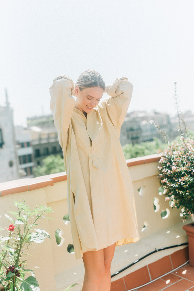 vestido-camisero-mostaza
