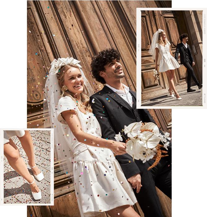 Look novia vintage boda civil