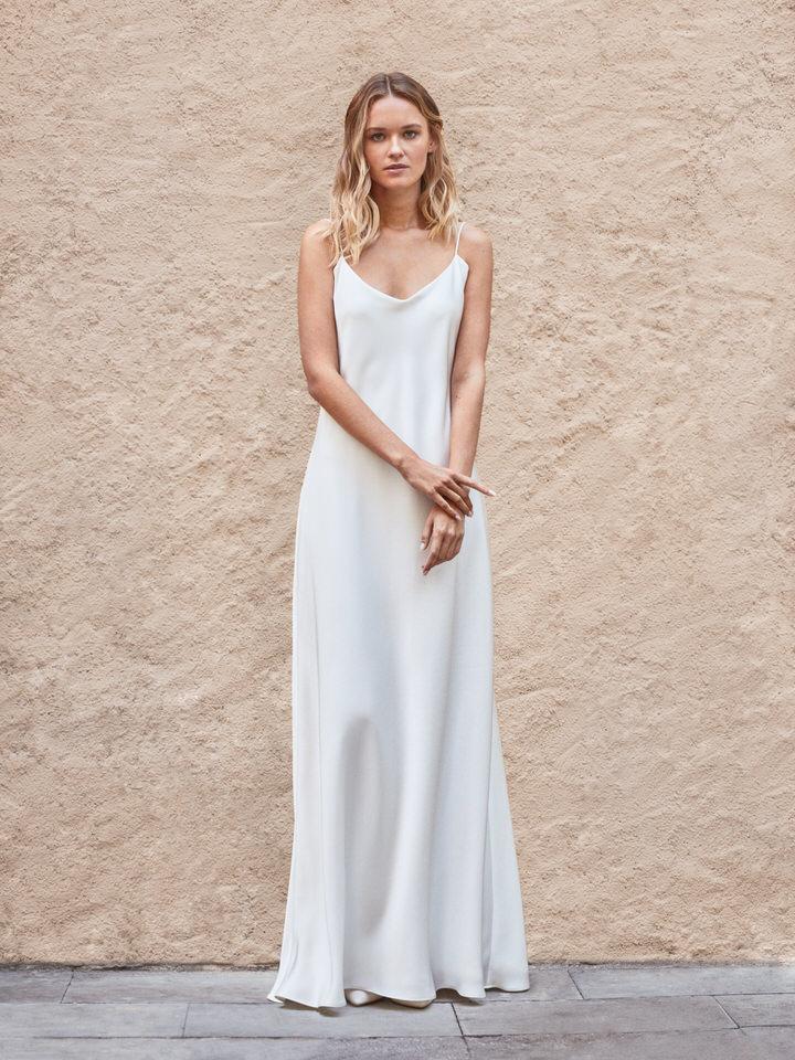 Vestido de novia vintage lencero elegante