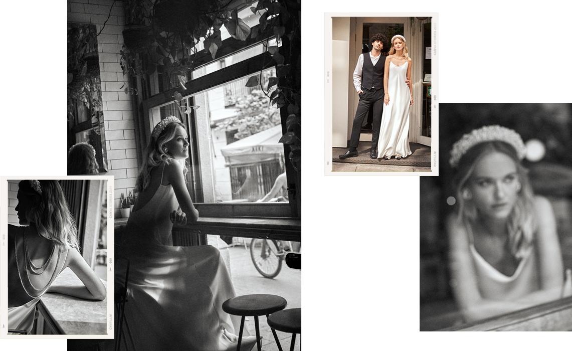 Vestido novia vintage lencero