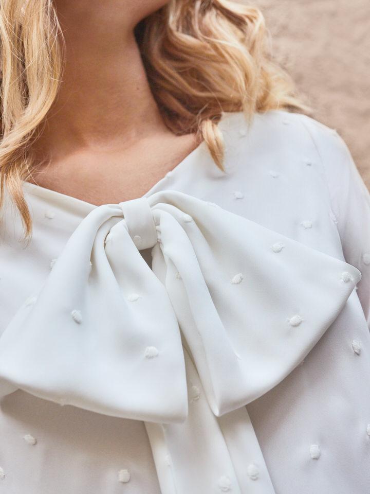vestido novia pretaporter lazo