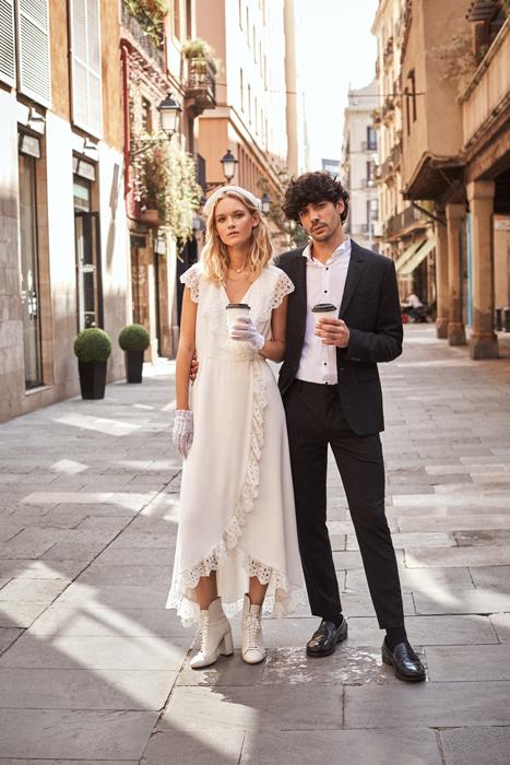 Vestido de novia vintage urbano