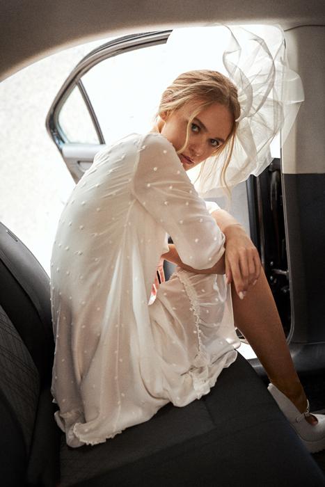 Vestido de novia vintage corto