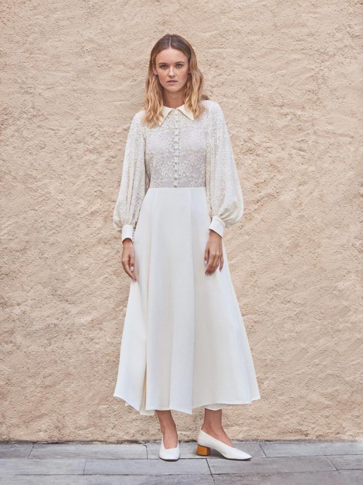 Vestido novia vintage midi
