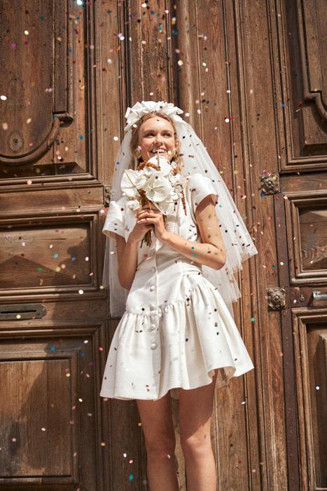 Vestido novia vintage corto LArca Barcelona