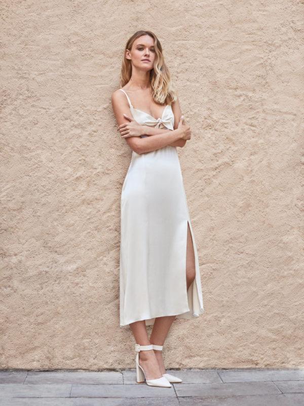 Vestido pret-a-porter de novia satinado