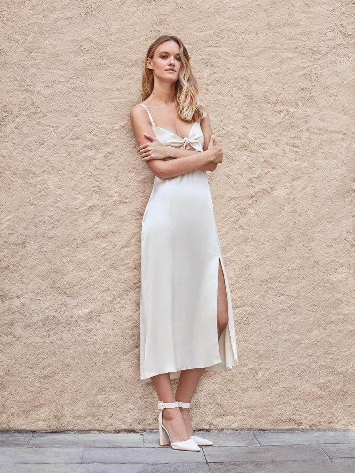 Vestido vintage de novia satinado